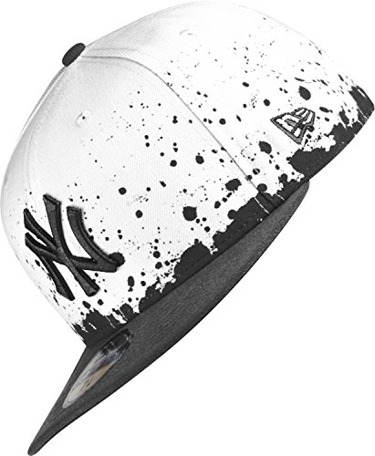 NEW YORK YANKEES - NEW ERA CAP - PANEL SPLATTER - WHITE / BLACK Größentabelle: 6 7/8 - 55cm (S)