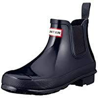 Hunter Womens Original Chelsea Gloss Winter Rain Waterproof Wellies Boots - Navy - 5