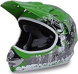 Actionbikes Motors Motorradhelm Kinder Cross Helme Sturzhelm Schutzhelm Helm für Motorrad Kinderquad und Crossbike in grün (X-Large)