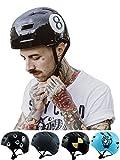 Skullcap® BMX Helm ☢ Skaterhelm ☢ Fahrradhelm ☢, downhill, schwarz, Größe M, Black-8