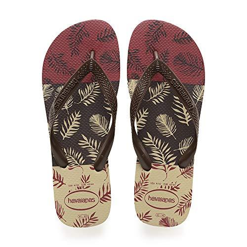 Havaianas Aloha, Infradito Uomo, Multicolore (Sand Grey/Dark Brown/Black 3748), 39/40 EU