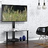 FITUEYES Meuble TV avec Support Télé Cantilever Pivotant et Réglable en Hauteur...