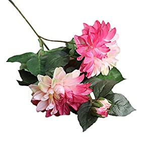 Ramo de Flores Artificiales de Seda, Ramo de Flores de Dalia Falsas para Boda, Ramo de hortensias de Novia, Bricolaje…