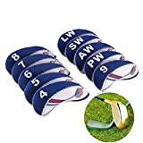 Woopower 10 pcs Cache tête de fer Golf Club Têtes Protector Wedge...
