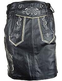 Trachten Lederrock kurz Bangla 890 Lederhose Glattleder Oktoberfest schwarz