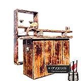 Tresen Bar Theke Buffet Cocktail Holz Maritim Hausbar Minibar outdoor indoor NEU + anygoods Flaschenausgiesser