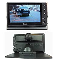 Console 4.3 Inch Screen Double Lens Driving Recorder Wi-Fi Transmission Rearview synthetic black, by LC Prime