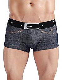 Homme Underwear Low Rise Trunk Sous-Vêtements Sexy Boxer Denim Bref Taille - XL