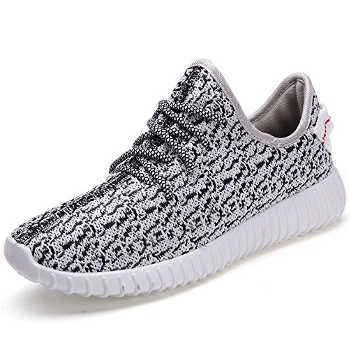 Casual Schuhe (Leicht Casual Sportschuhe Klassisch Schnür Laufschuhe Freizeit Straßen Sneaker Free Run Turnschuhe Fitness Wander Schuhe Damen Herren, Grau 40)