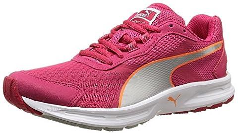 Puma Descendant v3 Wn - Chaussures de Running - Femme - Rouge (Rose Red/Puma Silver/Fluo Peach) - 38 EU (5 UK)