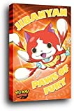 1art1 Yo-Kai Watch Poster sur Châssis (Bois) - Paws of Fury (91 x 61cm)