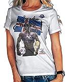Stylotex Damen/Girlie T-Shirt So sehn Sieger aus Guy Island Iceland, Farbe:Weiss;Größe:L