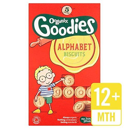 Organix Goodies Organic Alphabet Biscuits 5 x 25g
