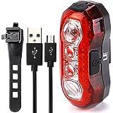 LE Phare arrière vélo LED, USB rechargeable, étanche, 3W Lampe Bicyclette et vélo Feu Arrière, 4 ...