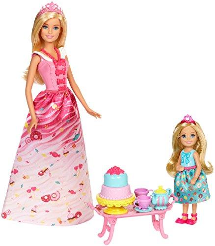 Barbie Mattel FDJ19 - Bonbon Prinzessin und Chelsea Teezeit-Spielset