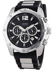 Guess Herren-Armbanduhr Analog Quarz Silikon W0167G1