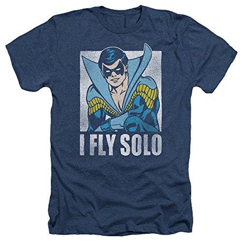 Dc-Fly Solo Heather-Maglietta a maniche corte da uomo blu navy