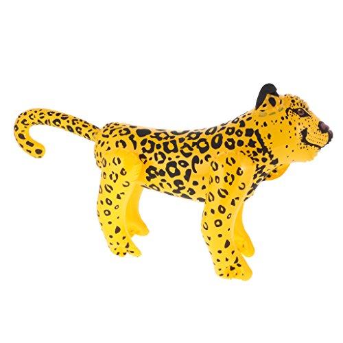 Gazechimp aufblasbare Tier Spielzeug Zoo Themen Badespielzeug Party Freien Dekoration Geschenk für Kinder - (Leopard Party Dekorationen)