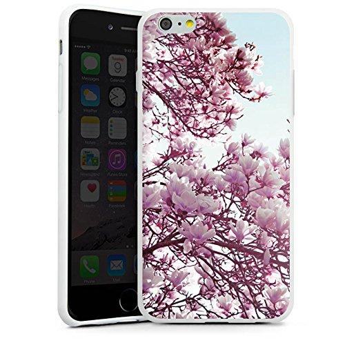 Apple iPhone X Silikon Hülle Case Schutzhülle Blätter Blüten Frühling Silikon Case weiß