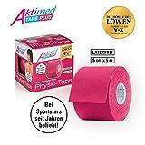 Aktimed Tape PLUS - Physio-Tapes mit pflanzlichen Extrakten - pink | Lifting & Massage für die Haut | Kinesiologisches Tape mit speziellem Klebstoff | Atmungsaktiv | Latexfrei | 5 cm x 5 m