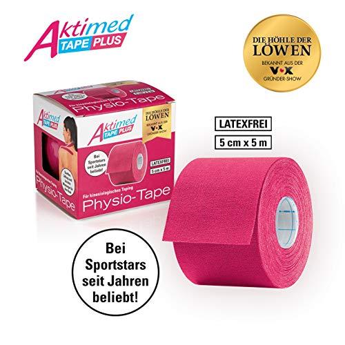 Aktimed Tape PLUS pink |Physio-Tape für kinesologisches Taping |speziell entwickelter Klebstoff mit pflanzlichen Extrakten |atmungsaktiv und hautfreundlich | latexfrei | 5cm x 5m