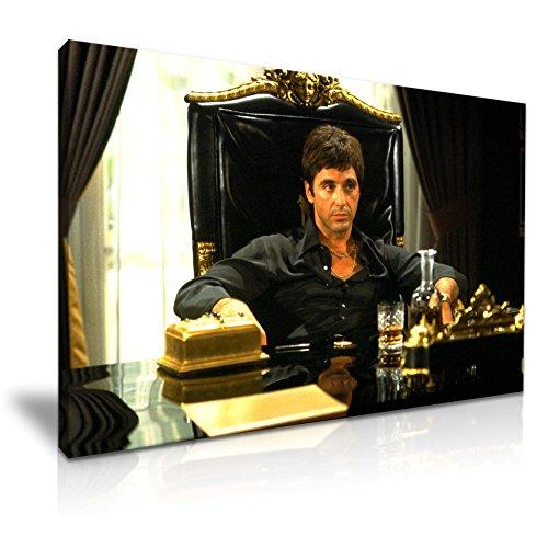 Leinwandbild, Motiv: Scarface Tony Montana, 76cm x 50cm