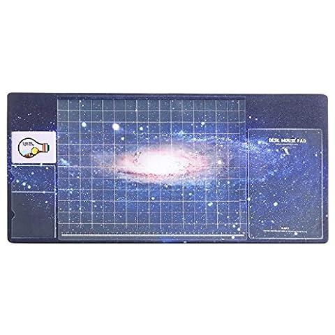 multifonction Tapis de table, Doulukit PVC pour carte Manomètre à cadran XXL clavier Motif Unique Tapis de souris (700* 330* 2mm), b, 700*330*1.8mm