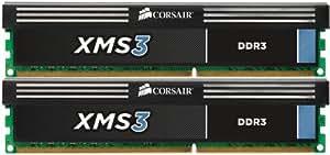 Corsair CMX8GX3M2A1333C9 XMS3 8GB (2x4GB) DDR3 1333 Mhz CL9 Performance Desktop Memory Kit