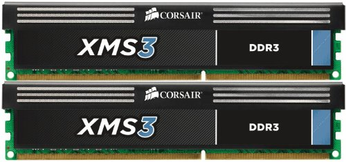 Corsair CMX16GX3M2A1600C11 XMS3 16GB (2x8GB) DDR3 1600 Mhz CL11 Performance Desktop Memory -