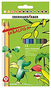 Eberhard Faber 511405Grosor lápices de Colores, Tabaluga, Juego de 12