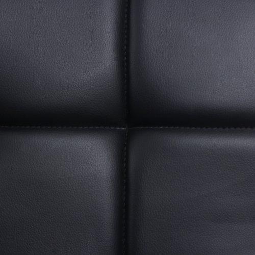 Songmics 2 x Taburete de Bar con Respaldo regulable en altura y giratorio cromado de cuero sintético Negro LJB64B