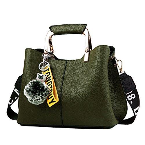 Mode Frauen Handtasche Schultertasche PU-Leder Umhängetasche Handtasche Messenger Bag Erhältlich In 6 Farben Green