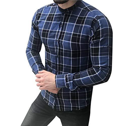 DNOQN Oversize T Shirt Herren Cashmere Pullover Slim Fit Bluse Herren Langarm Gitter Plaid Malerei Patchwork Große Größe Top Bluse Shirts XXL