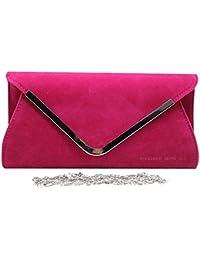 26d4c5a730c89 Wocharm Ladies Lavish Envelope Suede Velvet Womens Party Prom Wedding  Clutch Bag Purse Bag Shoulder Handbag
