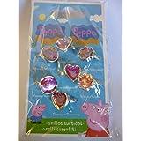 Paquete De 7 Día de la bolsa Semana Party Anillos- Peppa Pig Moda Rellenos - Chicas Juguetes - Peppa Pig Juguetes