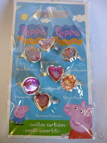 tag Peppa Pig Fashion Ringe- Partei Tasche Füllstoffe - Girls Toys ()