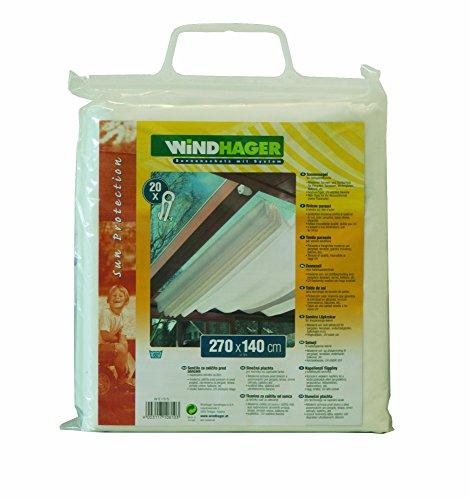 Windhager Sonnensegel für Seilspanntechnik, Uni-Weiß, 270 x 140 cm