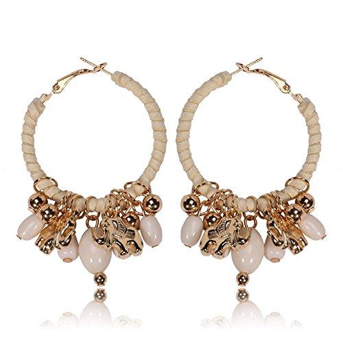 QIYUEQI Ms tornillos oído oídos continental de elefantes joyas colgante de tela...
