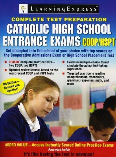 Catholic High School Entrance Exams, COOP/HSPT by LearningExpress Editors (2009-09-16) par LearningExpress Editors