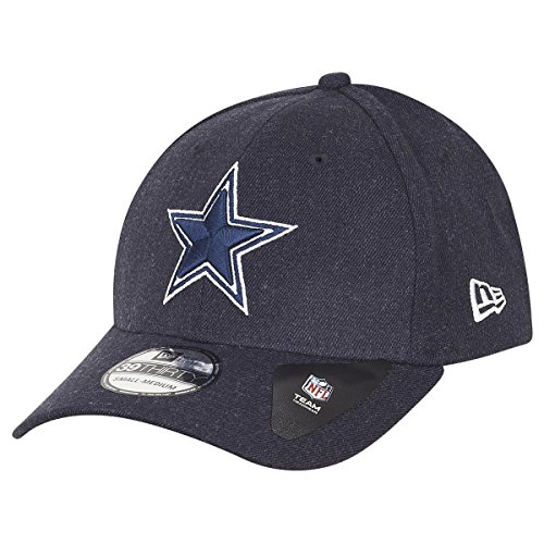 New Era 39Thirty Cap - NFL Dallas Cowboys Heather Navy - S/M (Baseball-kappen Nfl Cowboys)