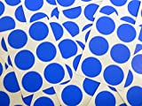Minilabel 25mm (1 Inch) Round Circular Self-Adhesive Sticky Dot Labels, Coloured Stickers - Royal Blue Circles (Pack of 102)