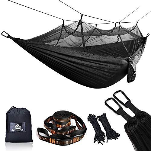 Empfehlung: Ultraleichte Moskito Netz Camping Hängematte 300kg  von NATUREFUN*