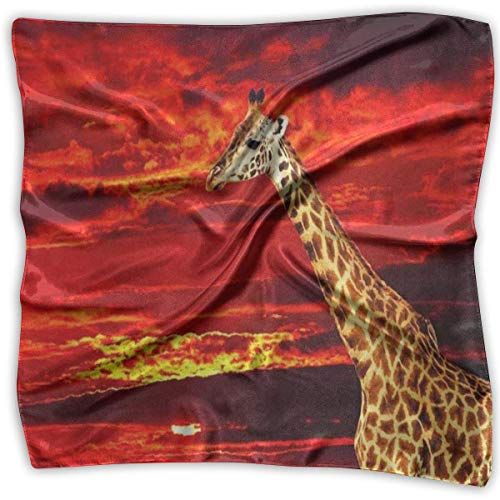 Women Silk Scarf Ocean Coral Reef Sea Turtle Printed Square Scarf Sunscreen Shawls Womens Coral Reef