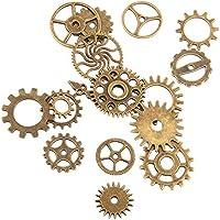 Trifycore 17pcs Steampunk Colgante Gear Charm Wheel Descubre Encanto DIY  Collar 3d01ffeb76e