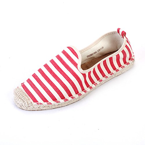 Autunno basso scarpe di tela/Strisce di asakuchi scarpe casual/Scarpe piatte-A Lunghezza piede=24.8CM(9.8Inch)