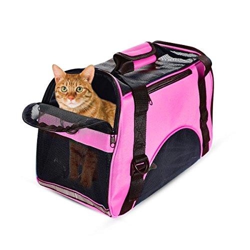PETCUTE Trasportino per Cani e Gatti Borsa per Gatti Leggeri Borsa da Trasporto per Cani da Viaggio Borsa per Animale Domestico
