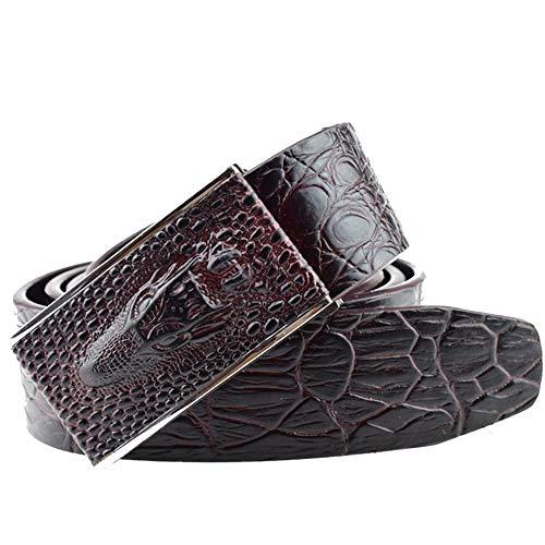 Cinturón Hombre/Cocodrilo Tatuaje Animal Serpiente Cabeza De Piel De Vaca Hebilla Cinturón/Jeans Cinturón Hombre