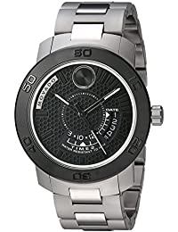 amazon co uk movado watches movado men s swiss quartz stainless steel automatic watch color silver toned model 3600383