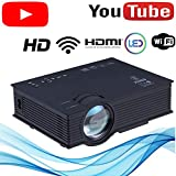 UC46 (2020 Model) WiFi LED HD Projector 1920 x 1080P 1500 lumens - 120-inch Display