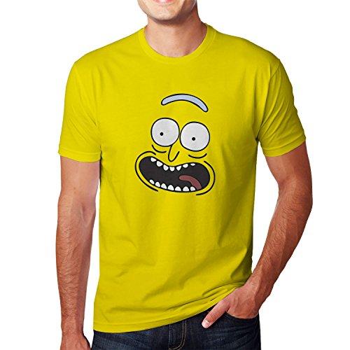 Planet Nerd Pickle Rick - Herren T-Shirt Gelb